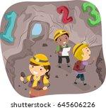 illustration of stickman kids... | Shutterstock .eps vector #645606226