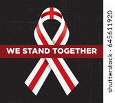 we stand together with... | Shutterstock .eps vector #645611920