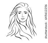 illustration face on white... | Shutterstock .eps vector #645612256