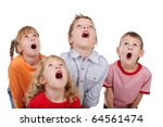 surprised by children looking... | Shutterstock . vector #64561474