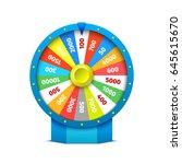 wheel of fortune. vector... | Shutterstock .eps vector #645615670