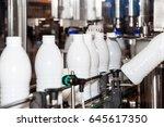 milk production line. milk... | Shutterstock . vector #645617350
