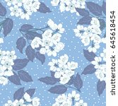 seamless cute pattern with... | Shutterstock .eps vector #645618454