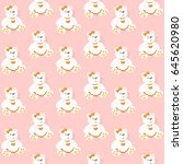 seamless pattern with bears on... | Shutterstock .eps vector #645620980