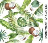 watercolor seamless pattern of... | Shutterstock . vector #645621133