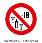 forbidden signal drink smaller | Shutterstock .eps vector #645622483
