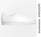 white sport shoes for running....   Shutterstock .eps vector #645623290
