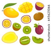 bright vector set of colorful... | Shutterstock .eps vector #645625066