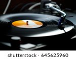 dj turntables needle cartridge... | Shutterstock . vector #645625960