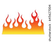 flame vector fire. colored... | Shutterstock .eps vector #645627004
