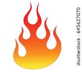 flame tattoo tribal vector... | Shutterstock .eps vector #645627070