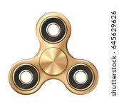 hand fidget spinner toy  ... | Shutterstock .eps vector #645629626