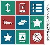 ui icons set. set of 9 ui... | Shutterstock .eps vector #645633514