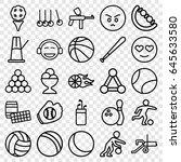 ball icons set. set of 25 ball... | Shutterstock .eps vector #645633580