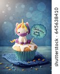unicorn cupcakes for a party   Shutterstock . vector #645638410