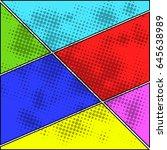 comics pop art style blank... | Shutterstock .eps vector #645638989