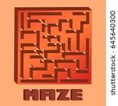 maze  | Shutterstock .eps vector #645640300