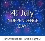 colorful starry fireworks on... | Shutterstock .eps vector #645641950