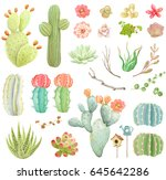 big vector collection with... | Shutterstock .eps vector #645642286