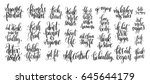 set of 25 hand lettering... | Shutterstock . vector #645644179