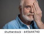 portrait of senior bearded man... | Shutterstock . vector #645644740