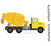 concrete truck  icon concrete... | Shutterstock .eps vector #645645976