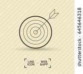 target line vector icon | Shutterstock .eps vector #645646318