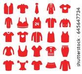 shirt icons set. set of 25... | Shutterstock .eps vector #645647734