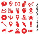 point icons set. set of 25... | Shutterstock .eps vector #645647884