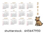 2018 dog new year vector... | Shutterstock .eps vector #645647950