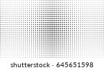 vector halftone texture dotted... | Shutterstock .eps vector #645651598
