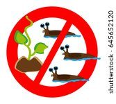 no slugs symbol isolated on... | Shutterstock .eps vector #645652120