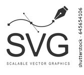 scalable vector graphics ... | Shutterstock .eps vector #645654106