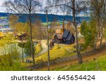 garmo stave church in... | Shutterstock . vector #645654424