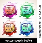 abstract colorful speech bubble ... | Shutterstock .eps vector #64565668