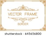 gold photo frame with corner... | Shutterstock .eps vector #645656800