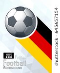 engraving soccer ball and... | Shutterstock .eps vector #645657154