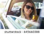 attractive business woman in... | Shutterstock . vector #645660388
