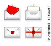 set christmas vector envelope e ... | Shutterstock .eps vector #64566064