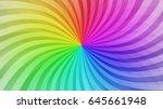 colorful swirling radial... | Shutterstock .eps vector #645661948