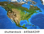 detailed satellite view of the... | Shutterstock . vector #645664249