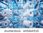 a textile factory in china | Shutterstock . vector #645664510