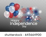 happy independence day concept... | Shutterstock .eps vector #645664900