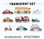 vector cartoon illustration set ... | Shutterstock .eps vector #645670864