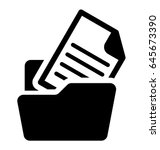 folder vector icon | Shutterstock .eps vector #645673390