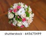 wedding bouquet of flowers...   Shutterstock . vector #645675499