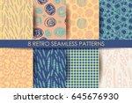 retro different seamless... | Shutterstock .eps vector #645676930