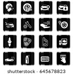 car shop vector icons for user... | Shutterstock .eps vector #645678823