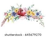 flower bouquet | Shutterstock . vector #645679270