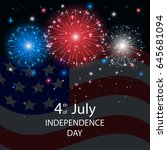 independence day background... | Shutterstock .eps vector #645681094
